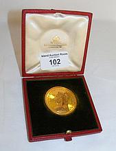 Victorian commemorative medallion in presentation case