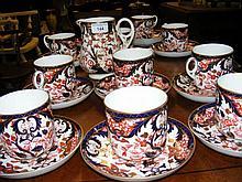 A 23 piece Royal Crown Derby Imari pattern teaset