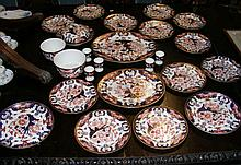 An extensive Royal Crown Derby Imari pattern part dinner service, including