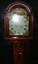 A 19th century mahogany Grandfather clock by Lelli of Newport, Isle of Wigh