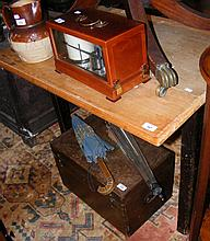 An old drop-leaf kitchen table