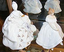 """Royal Doulton figurine """"Antoinette"""", together with one other """"Heather"""""""