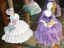 "A Royal Doulton figure ""Day Dreams"", together with ""Charlotte"""