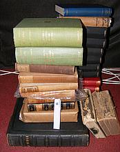 "Selection of books, including Holy Bible, ""Selborne"""