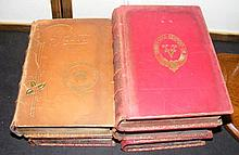 Five books with Island stamps, including West Mount, Newport, Bradley Lodge