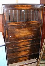 An oak bookcase/desk