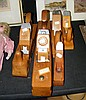 Five collectable old woodworking planes - Spanish