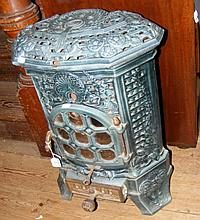 An old French enamel stove