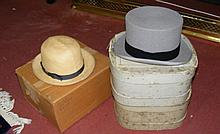 An old Walter Barnard & Son top hat in original