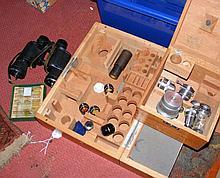 A pair of 8 x 40 field binoculars, sundry