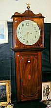A mahogany cased weight driven Tavern clock -