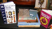 Sundry reference books on clocks and watches,