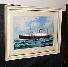 E THOMAS - 23cm x 34cm - watercolour portrait of