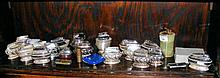 A collection of over twenty various table and