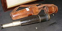 Antique four draw telescope by Baker of London in