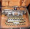 An old Blick typewriter in original wooden case