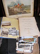 Various collectable postcards, engravings etc.