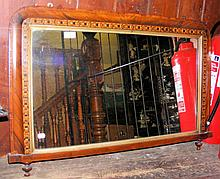 Edwardian overmantel mirror