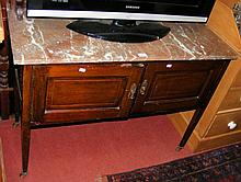 An Edwardian marble top washstand with splashback