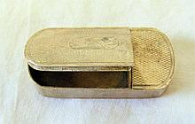 An engine turned Victorian silver snuff box with