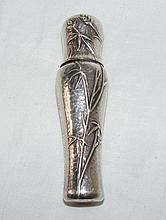 A 925 marked 10cm shaped silver perfume spray by