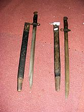 First World War sword bayonet with scabbard and