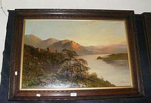 FRANCIS JAMIESON - oil on canvas - Highland castle