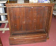 A Victorian oak open bookshelf