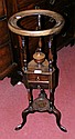 A Georgian style mahogany gent's shaving stand