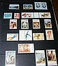 An album containing various collectable stamps -