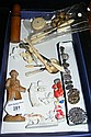 Various collectables, including sewing tools, old