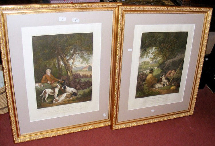 A pair of GEORGE MORLAND engravings -