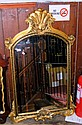 An antique style gilt framed hall mirror
