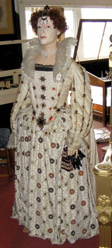 A life size mannequin of Queen Elizabeth I - her