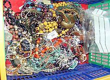 Large selection of costume jewellery, necklaces, etc.