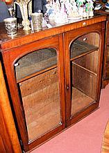A Victorian mahogany display case