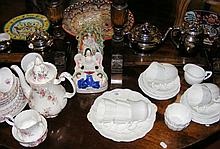 Various collectable ceramicware, including Imari plate, Staffordshire figur