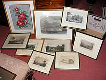 Selection of old Isle of Wight engravings and other