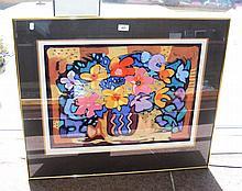 A SIMON BULL Limited Edition print - framed and glazed