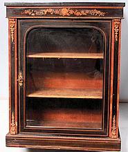 Small Victorian ebonised display cabinet