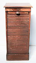 1920's oak music cabinet with tambour front