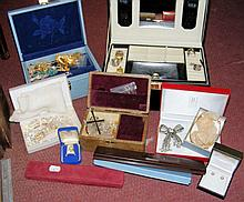 Various costume jewellery, including necklaces, brooches, etc.