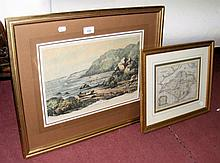 THOMAS KITCHIN - antique Isle of Wight map, together with an old Isle of Wi