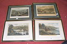 Selection of old Isle of Wight engravings, including The Priory, etc.