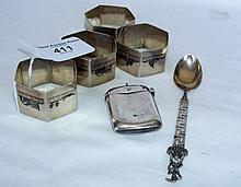 Middle Eastern napkin rings, vesta case
