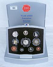 "An ""Executive Coin Proof Set 2000"" in presentation case"