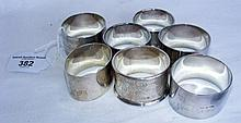 Selection of silver napkin rings