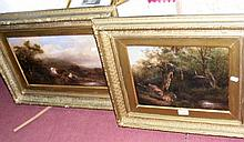 A 19th century oil on board - Highland Cattle scene and one other