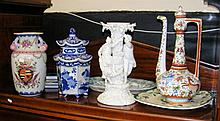 Selection of decorative ceramicware, including vases