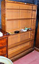 A Victorian open bookcase with adjustable shelving - 4ft wide
